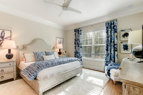Blue and White Coastal Retreat